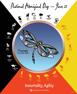(Poster) National Aboriginal Poster 2017: The Dragonfly