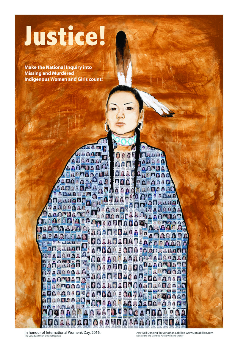 In honour of International Women's Day this year, we have created a beautiful poster to raise awareness of the issue of missing and murdered Indigenous women and girls.