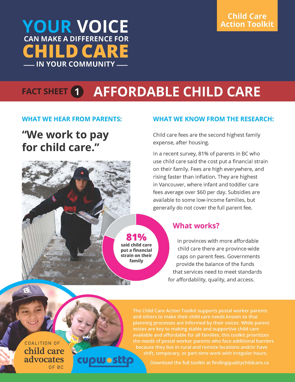 Fact Sheet 1: Affordable Child Care