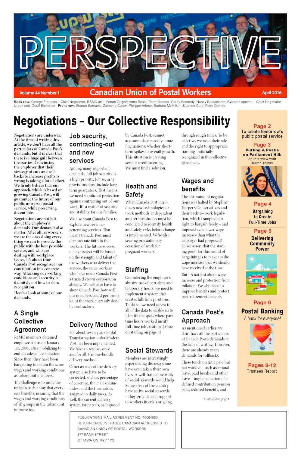 Negotiations – Our Collective Responsibility