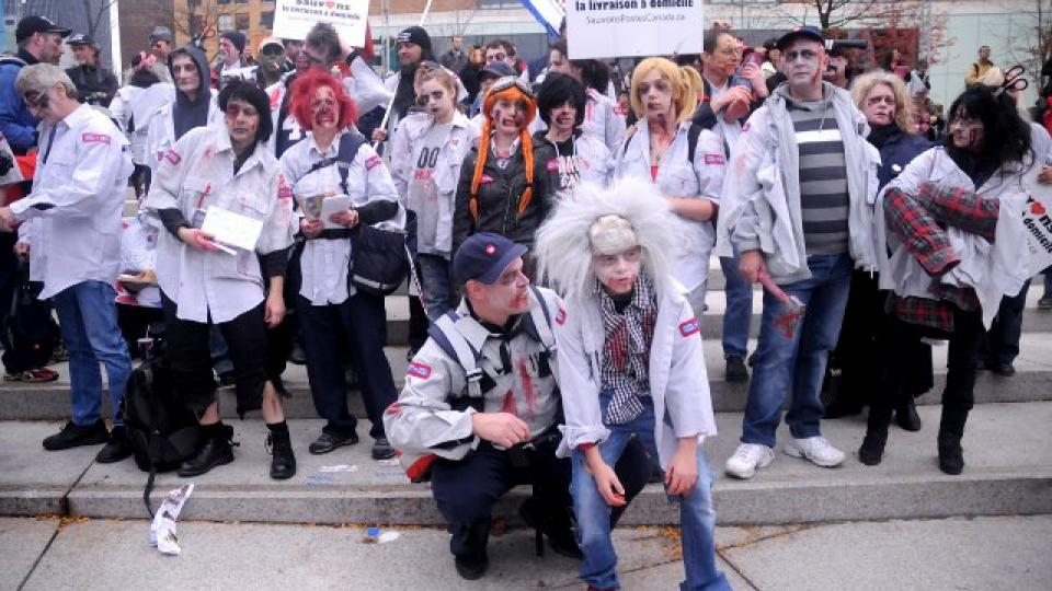 Montreal Zombie March